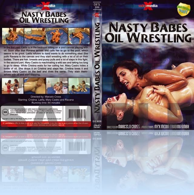 Nasty Babes Oil Wrestling